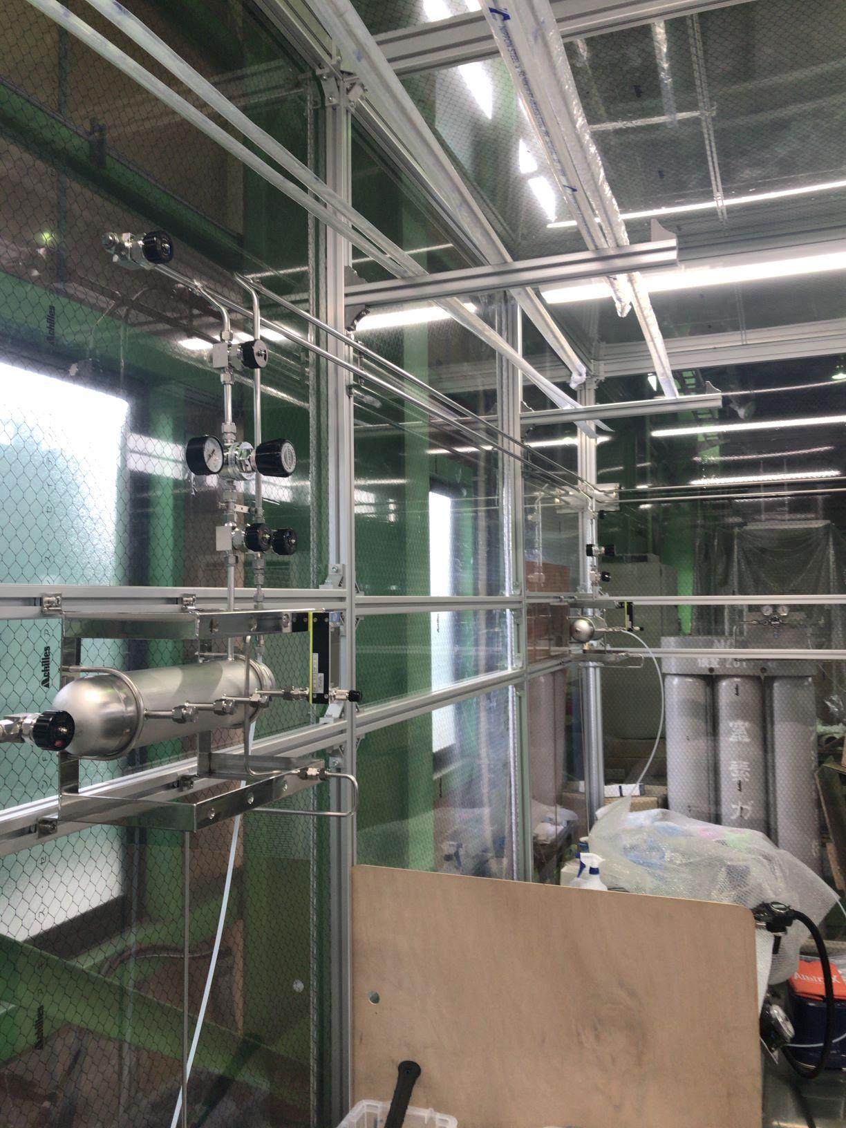 Ar、パージ用N2ガス配管